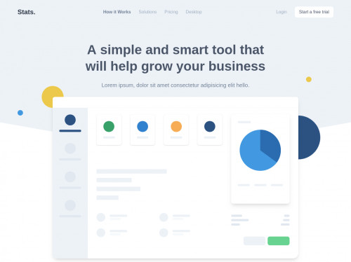 tailwind Landing Page with Tailwind CSS