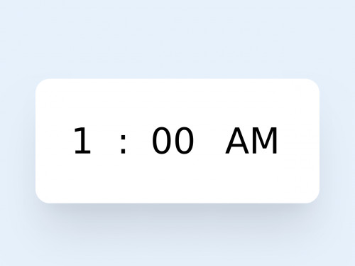 tailwind Simple Time Picker