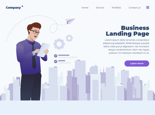 tailwind Business page