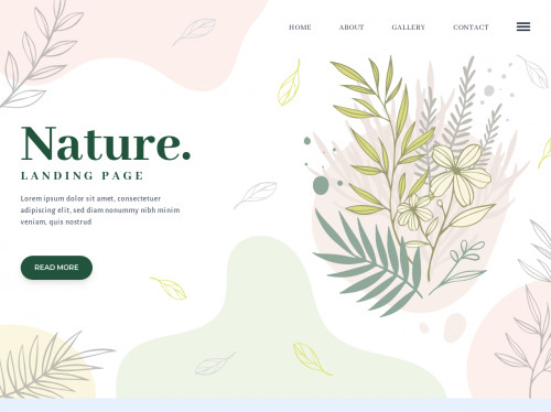 tailwind Nature landing page