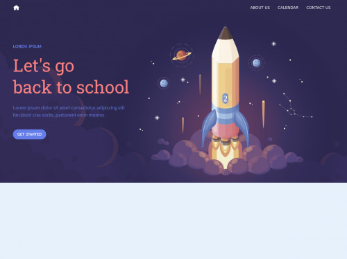tailwind School themed landing page