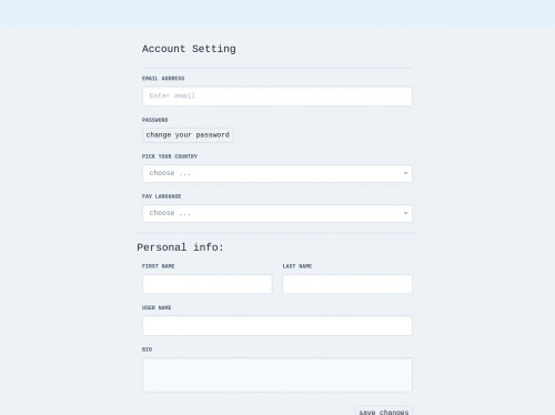 tailwind Account Setting