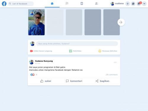 tailwind Facebook clone