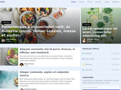 tailwind Blog Homepage