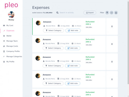 tailwind Expenses Dashboard