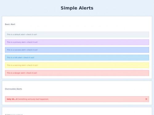tailwind Simple Alerts