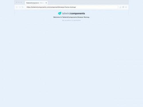 tailwind Browser Frame Mockup