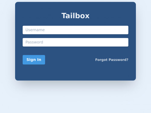 tailwind Tailbox login