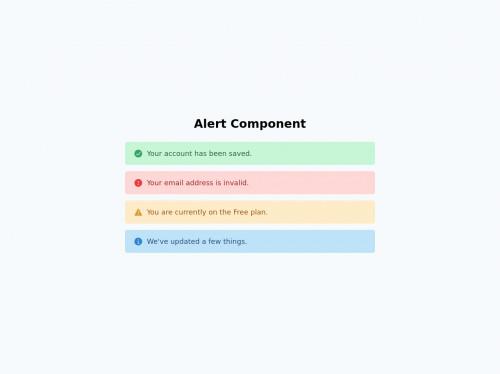 tailwind Alert Component