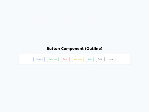 tailwind Button Component (Outline)