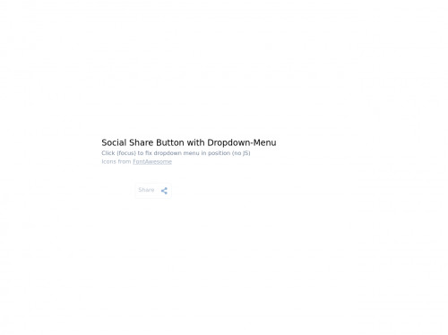 tailwind Social Share Button with Dropdown-Menu