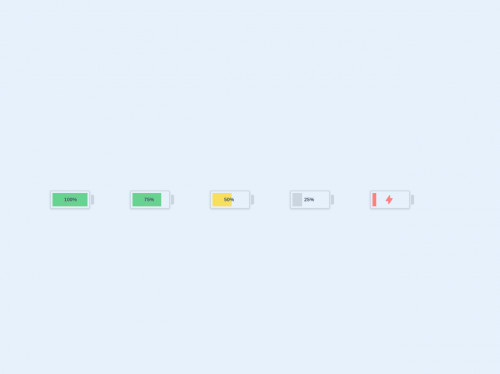 tailwind Battery with Tailwind CSS