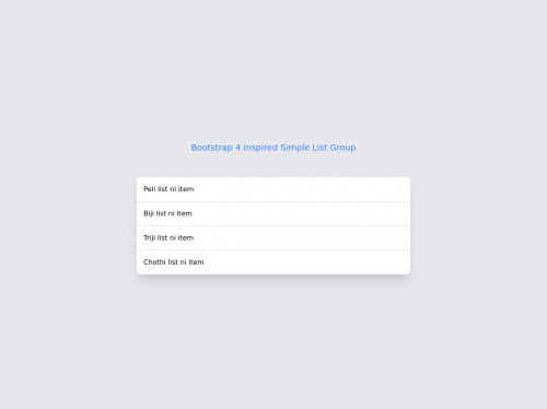 tailwind Bootstrap 4 Inspired Simple List Group