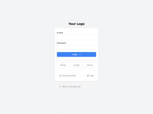 tailwind Simple login + Social