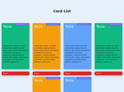 tailwind Card list