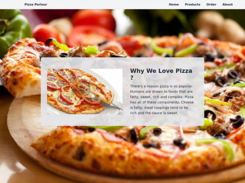 tailwind Responsive Layout With Pizza Parlour Example Site