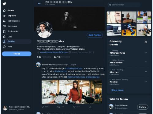 tailwind Twitter Profile