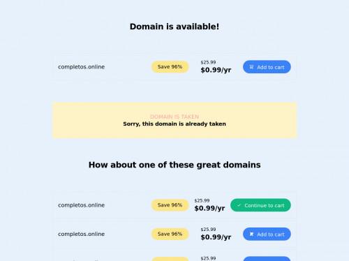 tailwind Domain list