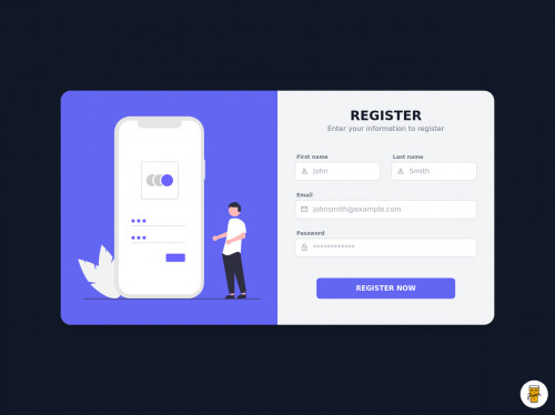 tailwind Simple Register/Sign Up Form