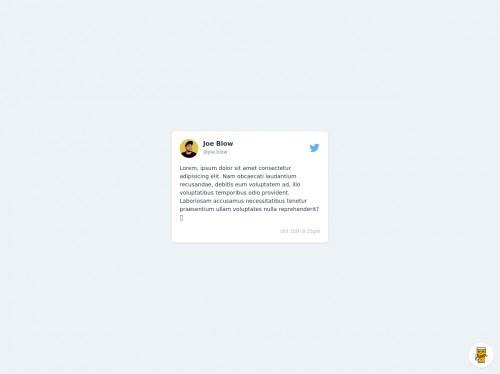 tailwind Twitter Card