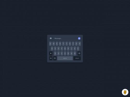 tailwind iOS Keyboard Clone (Dark Mode)