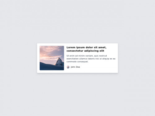 tailwind Quote Card with Image