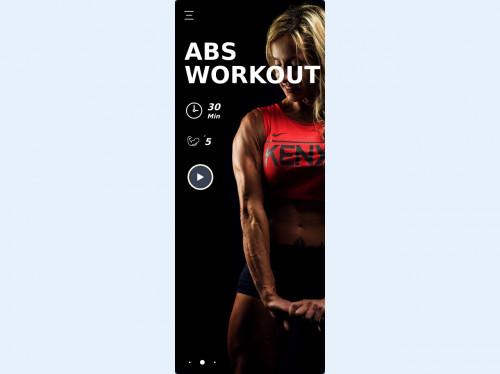 tailwind Ui  fitness mobile