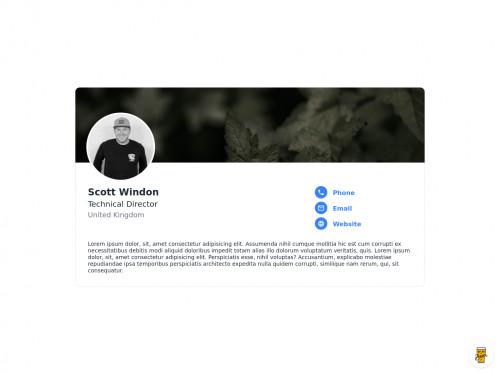 tailwind Profile Card