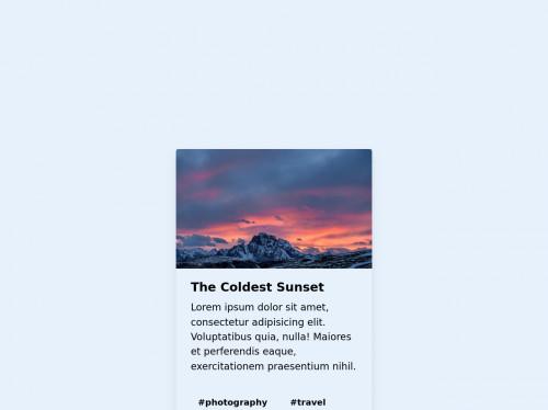 tailwind Simple card