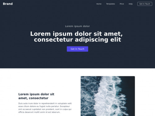 tailwind Landing page example