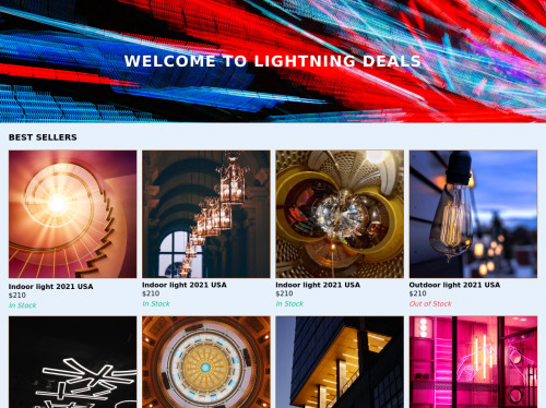 tailwind E commerce Homepage layout
