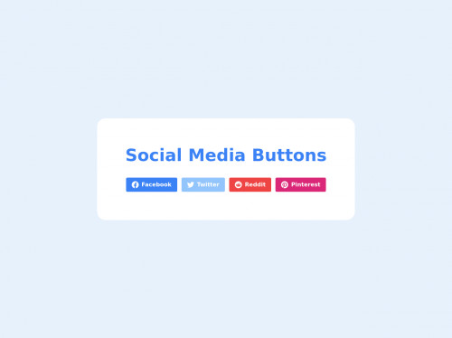 tailwind Social Media Buttons