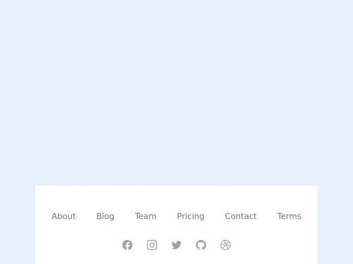tailwind website footer