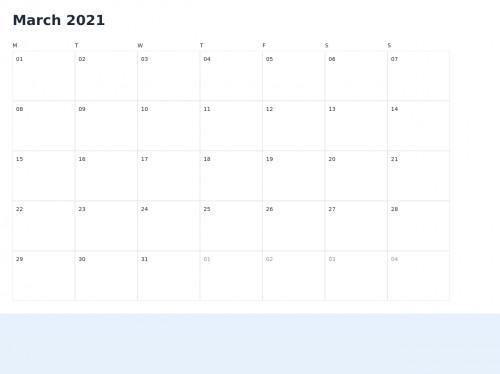 tailwind Minimalist Calendar