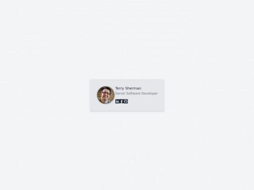 tailwind Responsive Employee Card