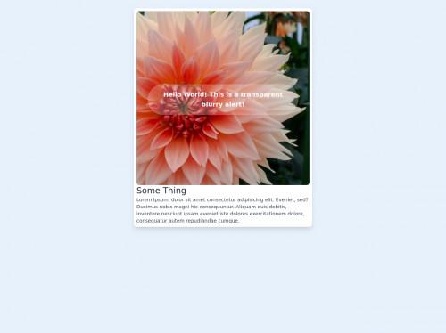 tailwind Blurry Alert on Image Card