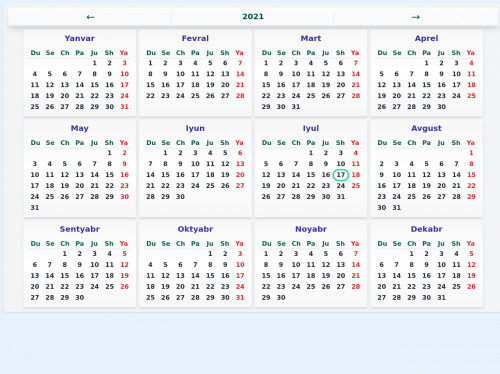 tailwind Full calendar