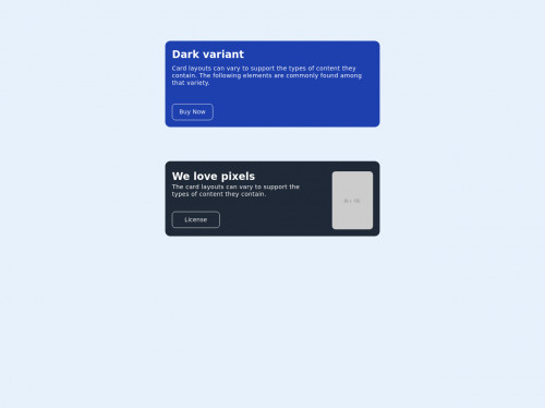 tailwind CTA cards
