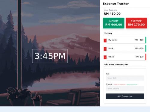 tailwind Expense Tracker using Tailwindcss