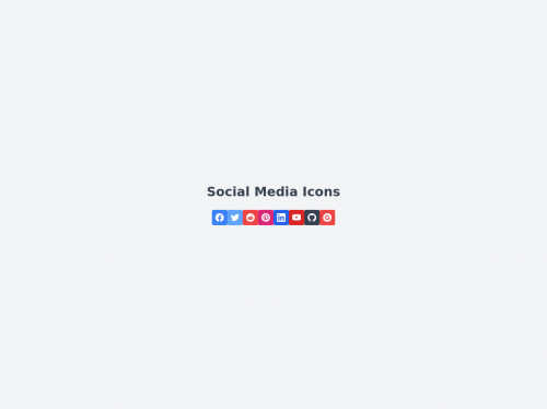 tailwind Social Media Icons