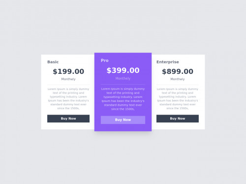 tailwind Responsive Pricing Cards