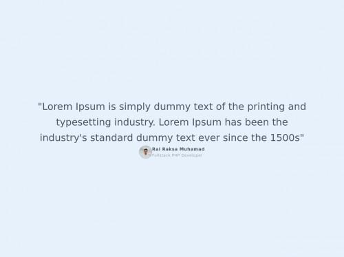 tailwind Testimonial Typography