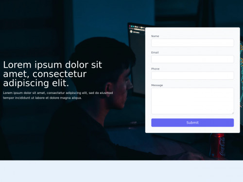 tailwind Responsive Contact Form #1