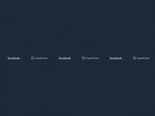 tailwind Responsive Logos Section #1 - Dark Mode