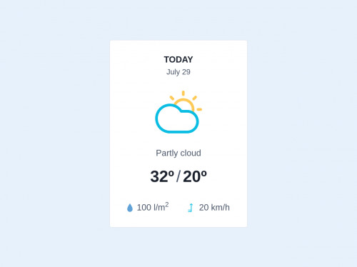 tailwind Weather  Widget