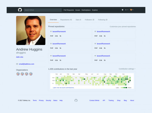 tailwind Github profile clone