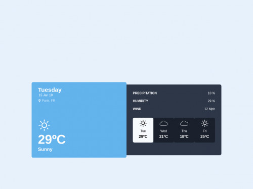 tailwind Simple weather box desing
