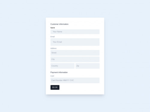 tailwind Checkout Form