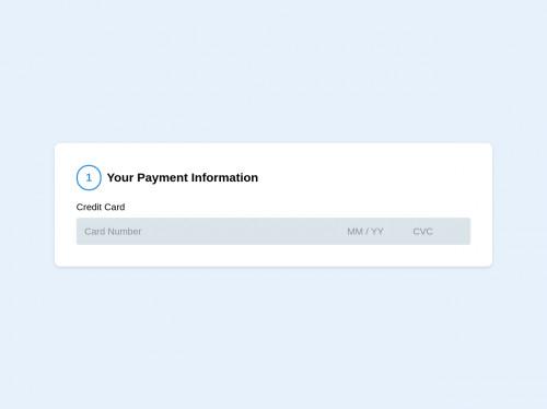 tailwind Stripe Credit Card