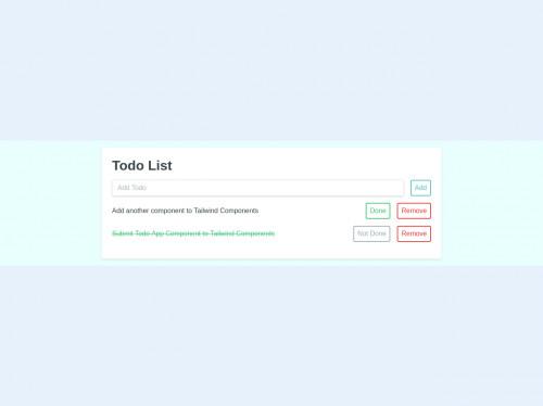 tailwind Todo List App